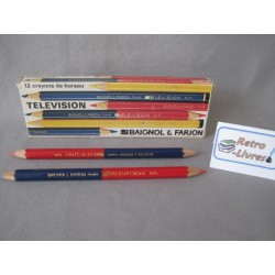 """Boite de crayons """"Télévision"""" vintage Baignol et Farjon"""