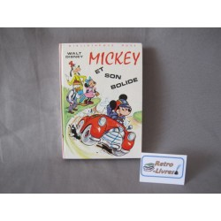 Mickey et son bolide Bibliothesue rose
